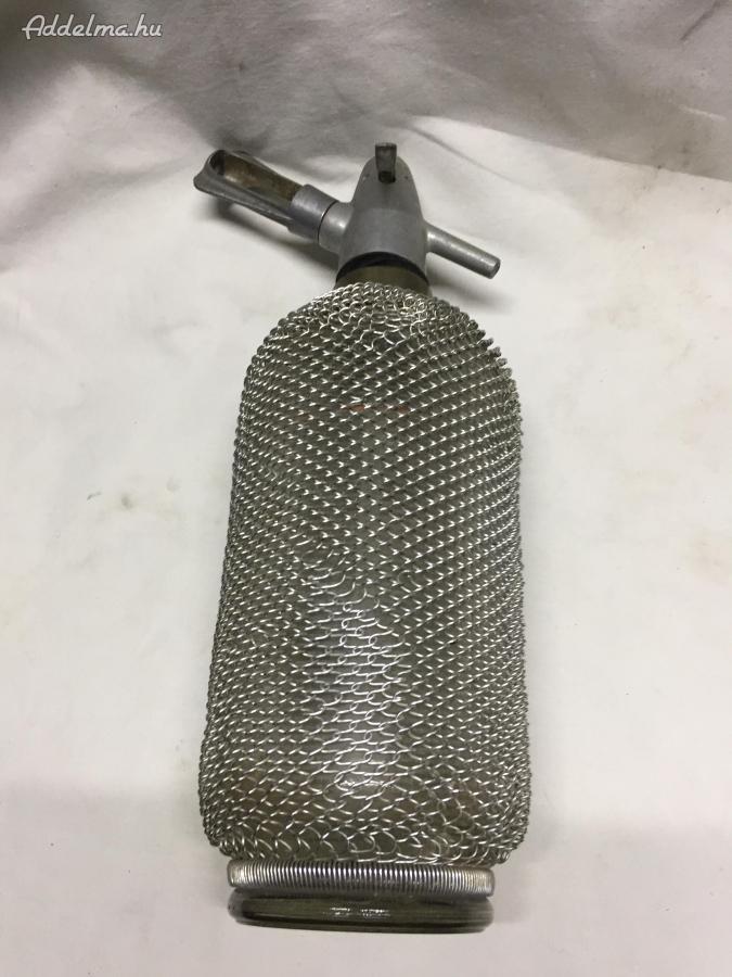 Drótfonatos  szódásüveg Retro
