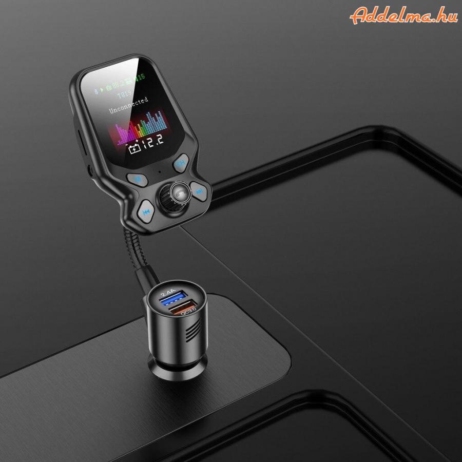 Dual USB Bluetooth 5.0 FC 3.0 FM Transzmitter autós töltő