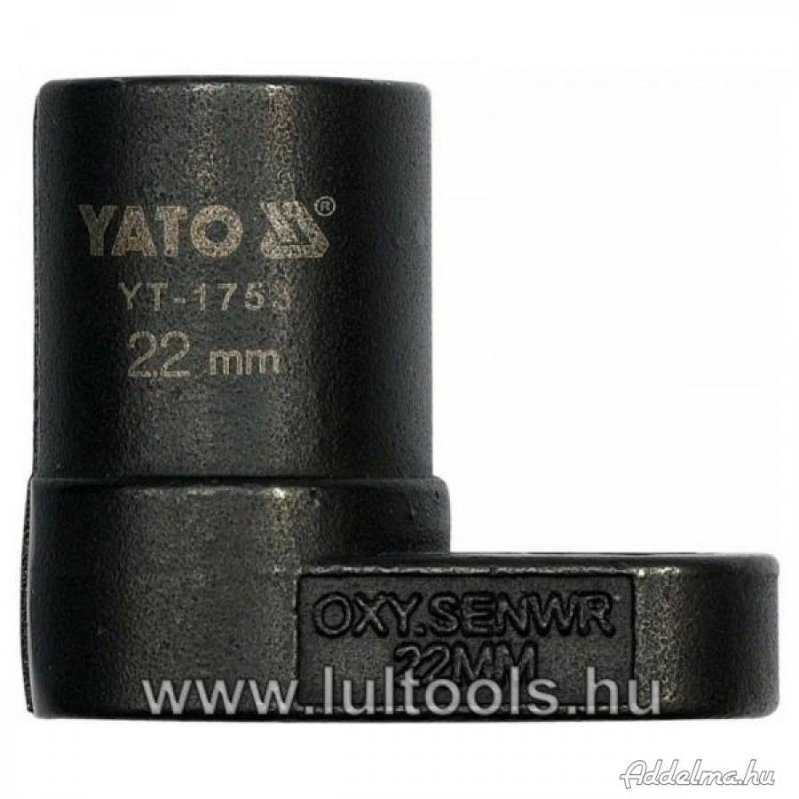 Dugókulcs lambda szondához 22mm YT-1753,.,.,.,.,.,.