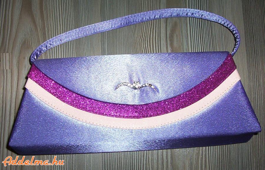 Elegáns lila kis táska eladó
