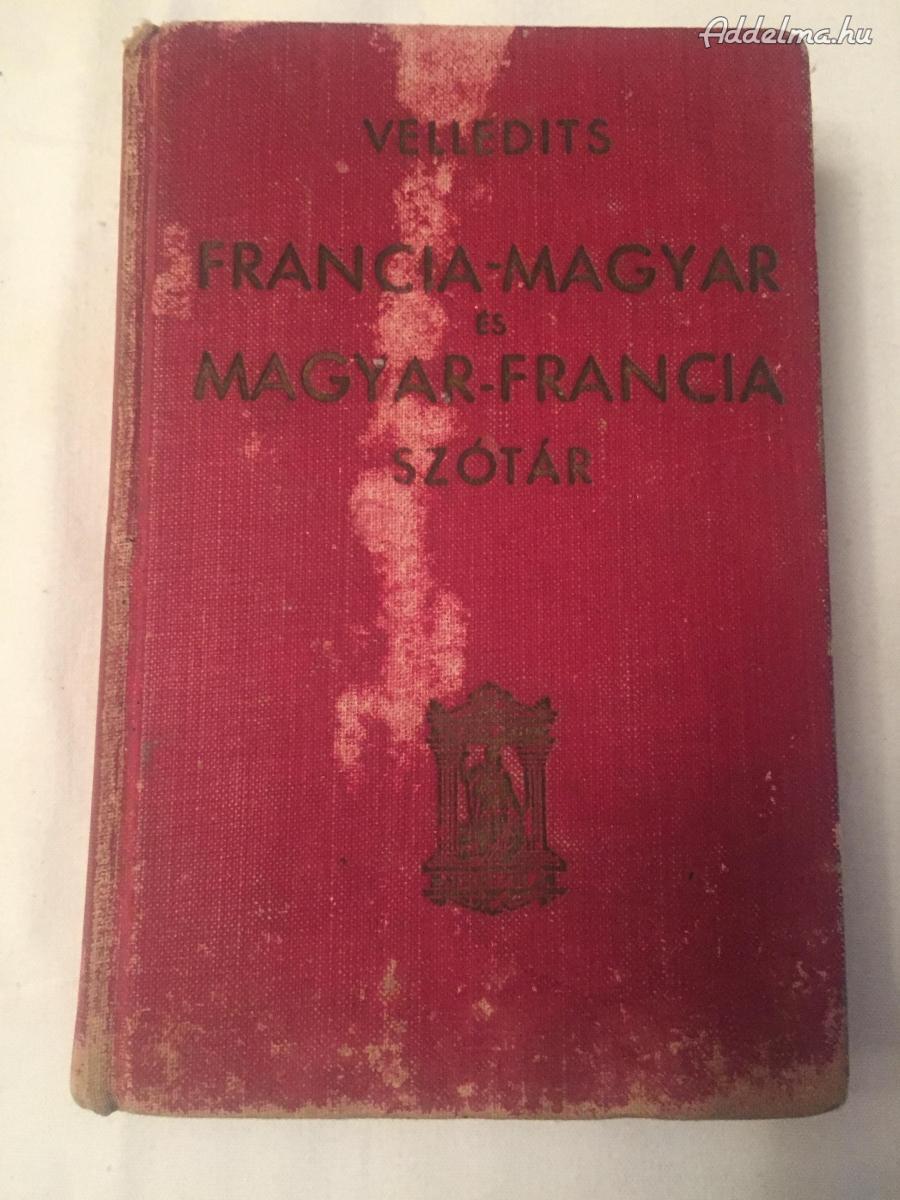 Francia-Magyar és Magyar-Francia  Szótár 1940