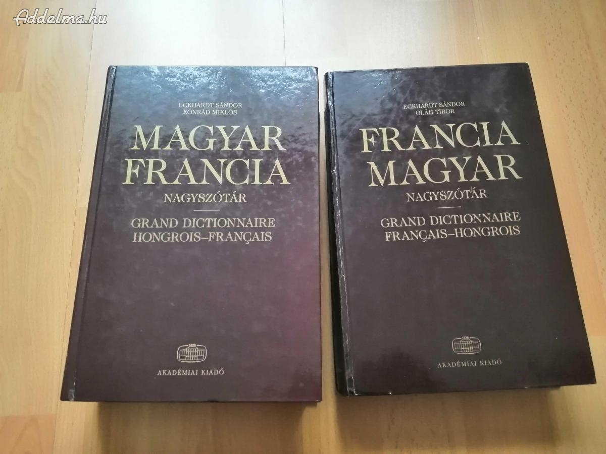 Francia-magyar, magyar-francia nagyszótár eladó