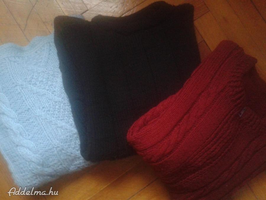 Három darab kötött pulcsi