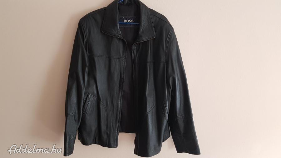 Hugo Boss férfi bőr kabát M