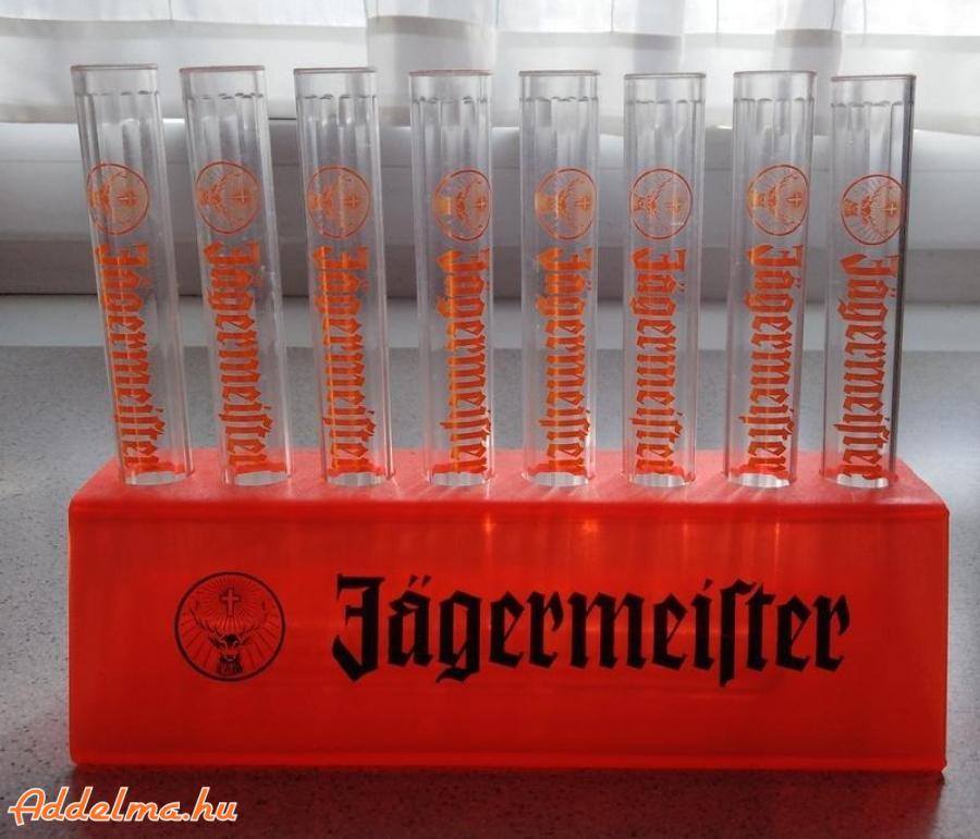 Jagermeister buli pohár, kémcső szett eladó