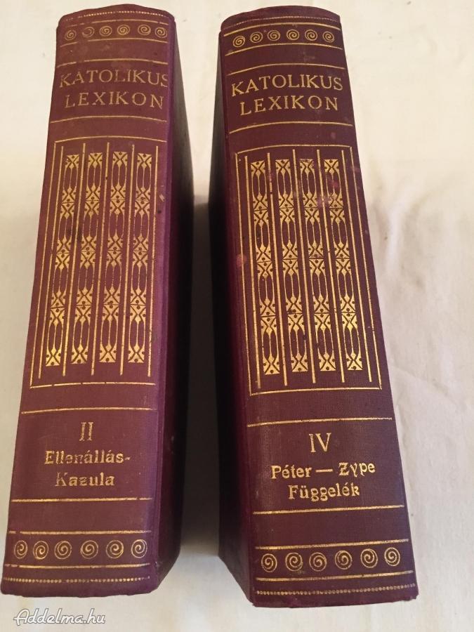 Katolikus lexikon II. IV. kötet.1931 és 1933