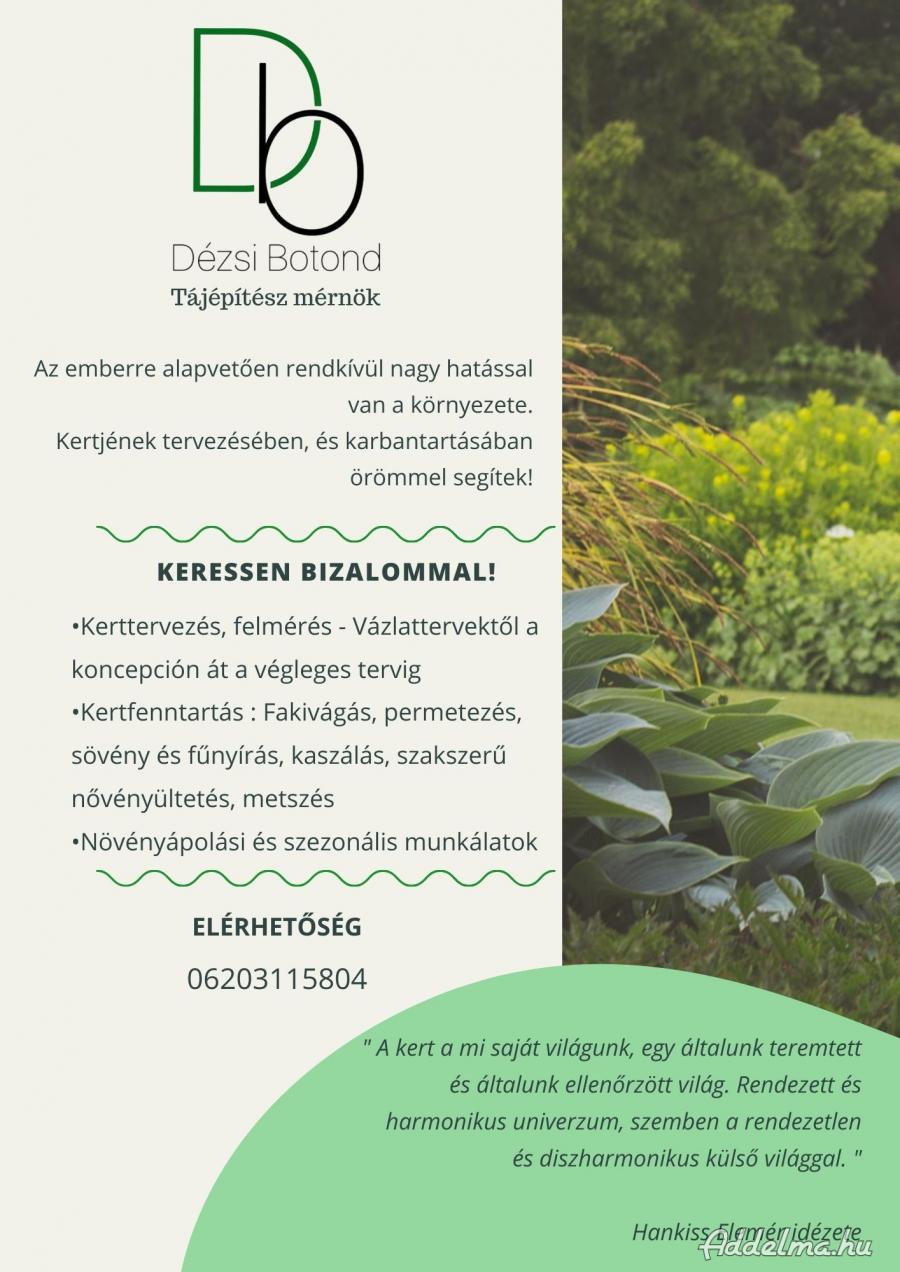 Kerttervezés, tájéíptészeti kerti munkálatok