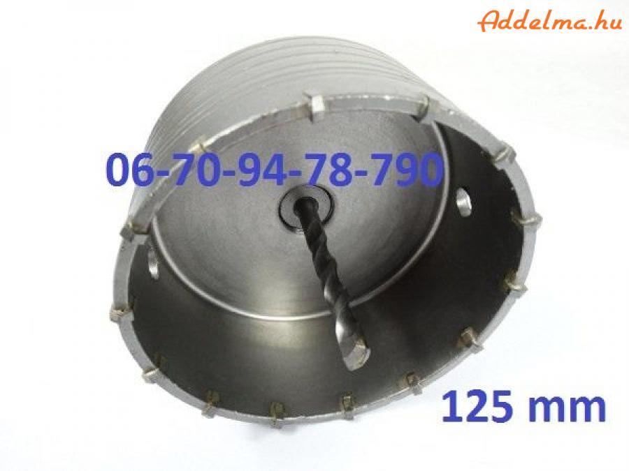 Korona-körkivágó 125 mm sds plus-os szárral