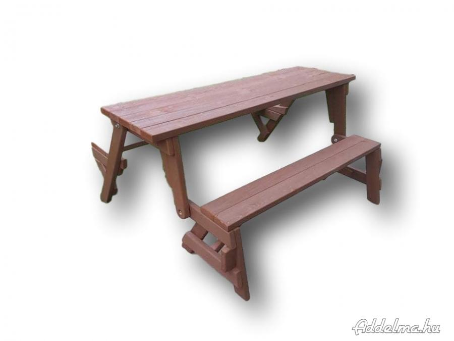 Kültéri asztal padokkal