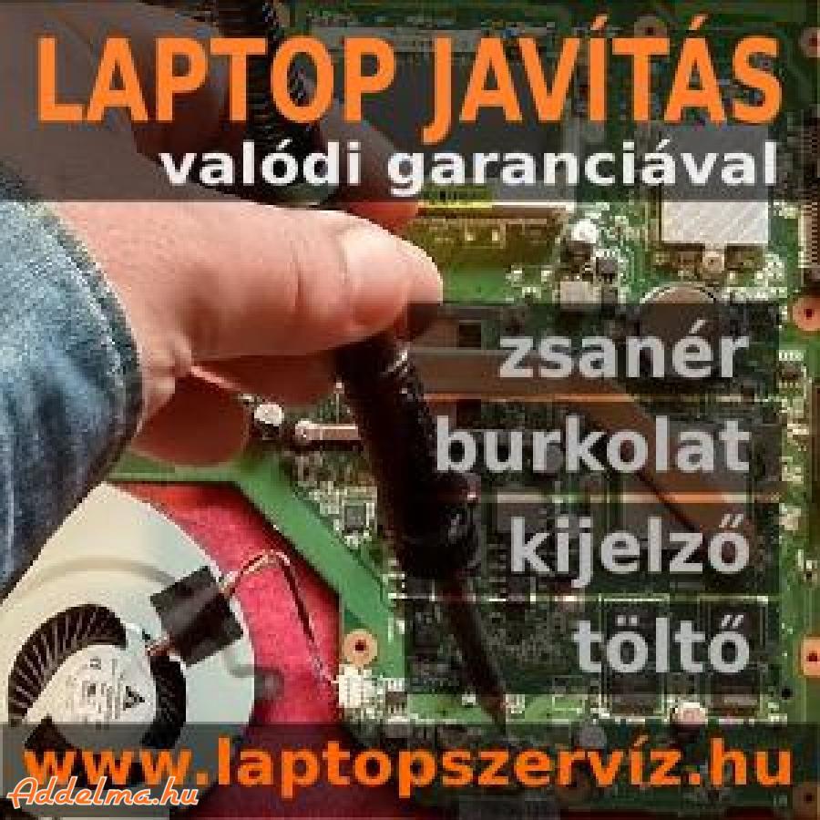 Laptop burkolat és zsanér törés javítása garanciával