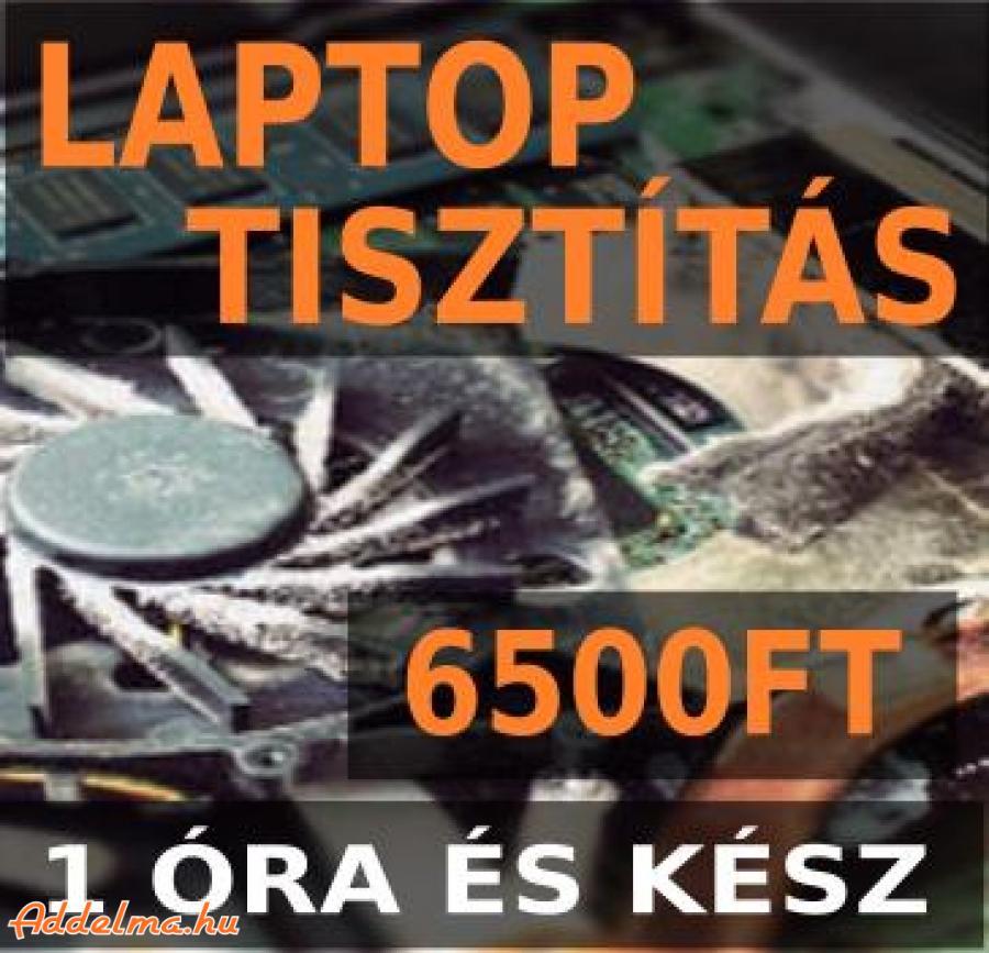 Laptop tisztítás azonnal most féláron csak 6500Ft