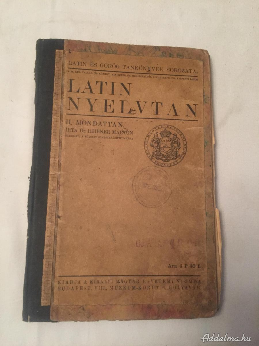 Latin nyelvtan könyv