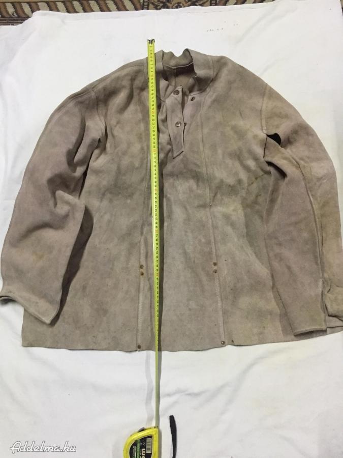 Marha hasított bőr munkaruházati kabát