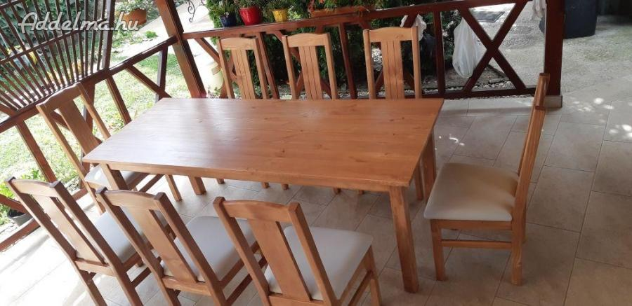 Masziv fa étkező garnitúra asztal székekkel a gyártótól