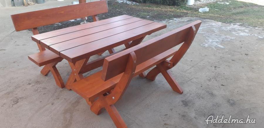 Masziv fa kerti bútor, sörpad garnitúra a gyártótól