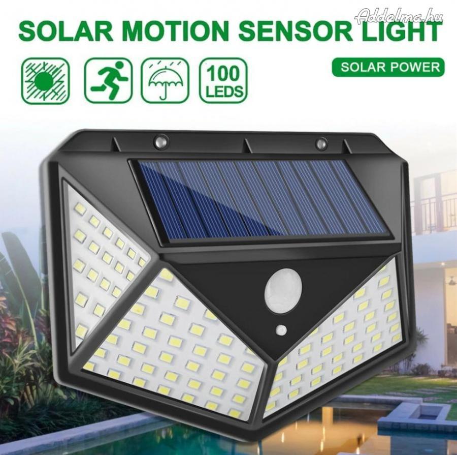 Napelem solar LED kültéri lámpa mozgásérzékelővel