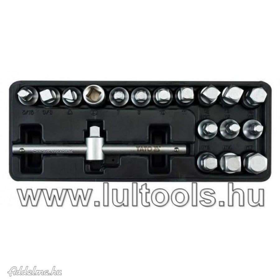 Olajleeresztő készlet 18 db-os (YT-0599)