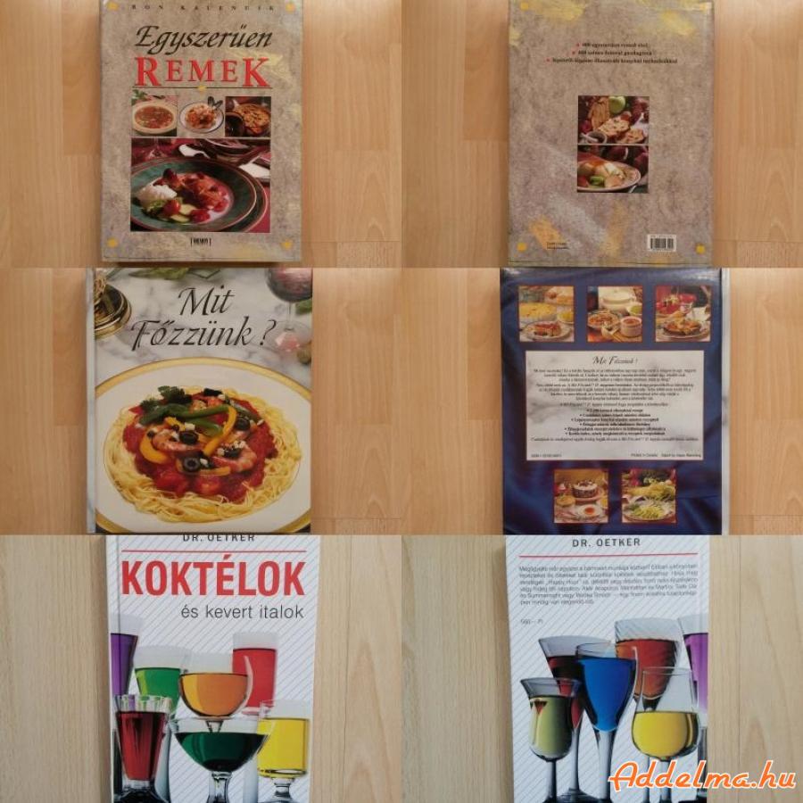 Szakácskönyv, receptkönyv, koktélkönyv