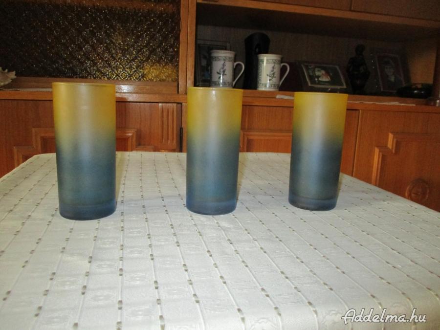 Szines üveg poharak