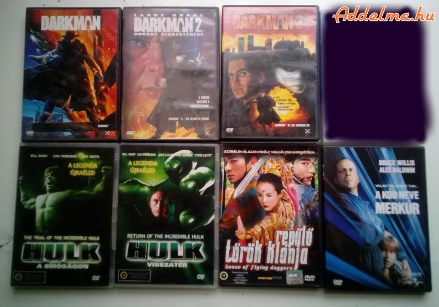 Szinkronos DVD-k Darkman és Hulk
