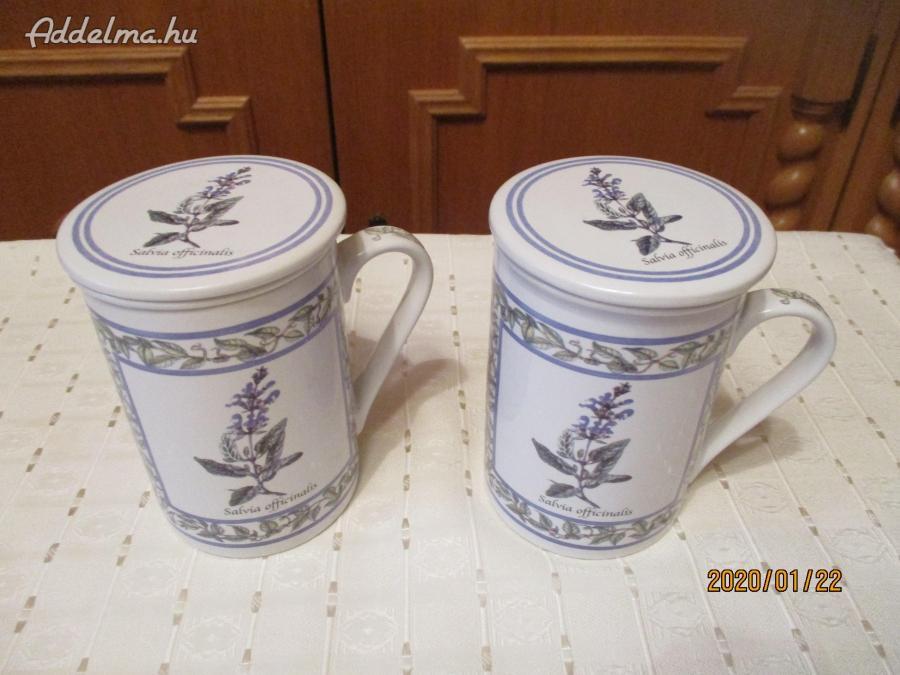 Teás pohár szűrővel