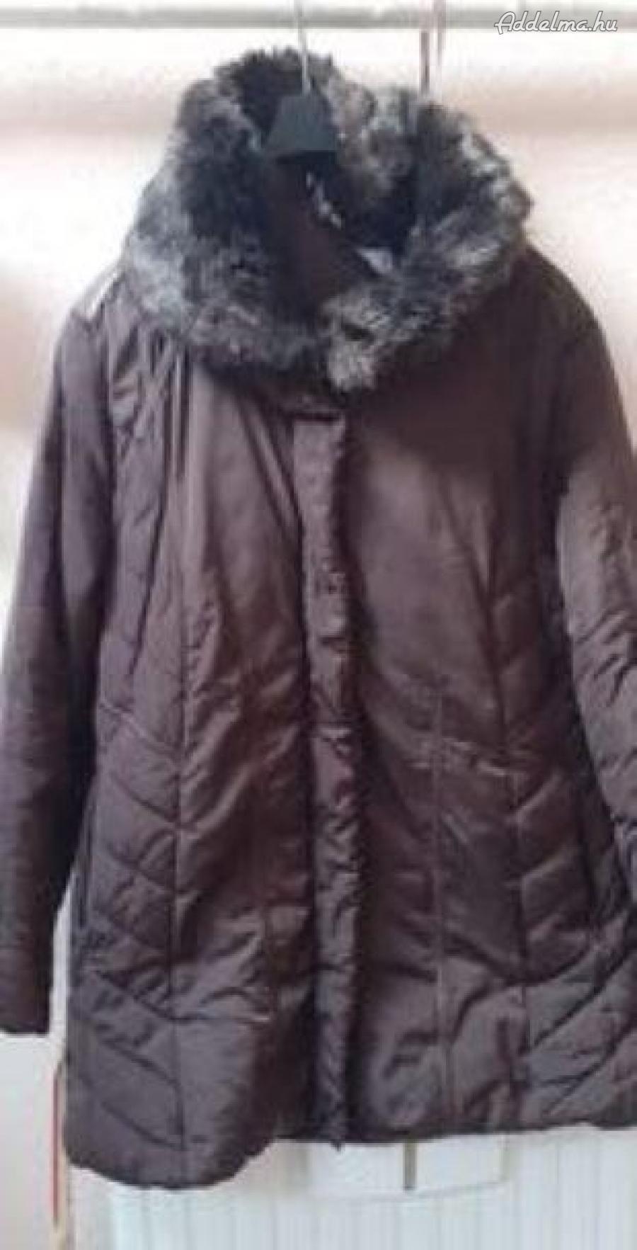 Téli bundabéléses kabát L-es.