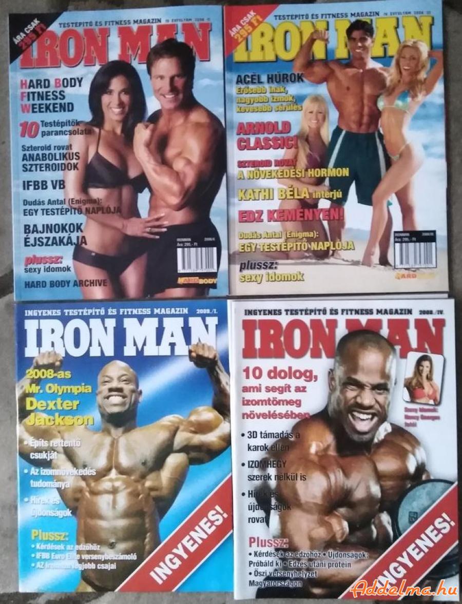 Testépítő, Body-building magazinok eladók