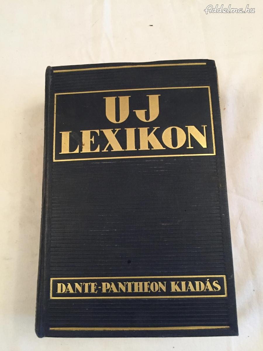 Új Lexikon Dante Pantheon kiadás 1936
