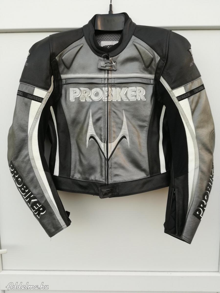 Új Probiker protektoros Bőr Sport Motoros Dzseki