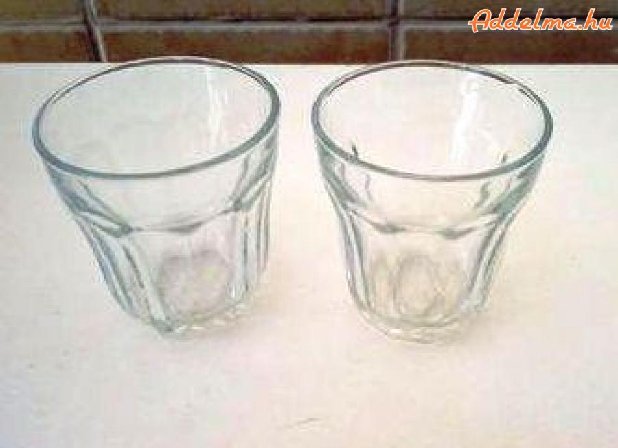 Üveg kávéspohár - 2 db
