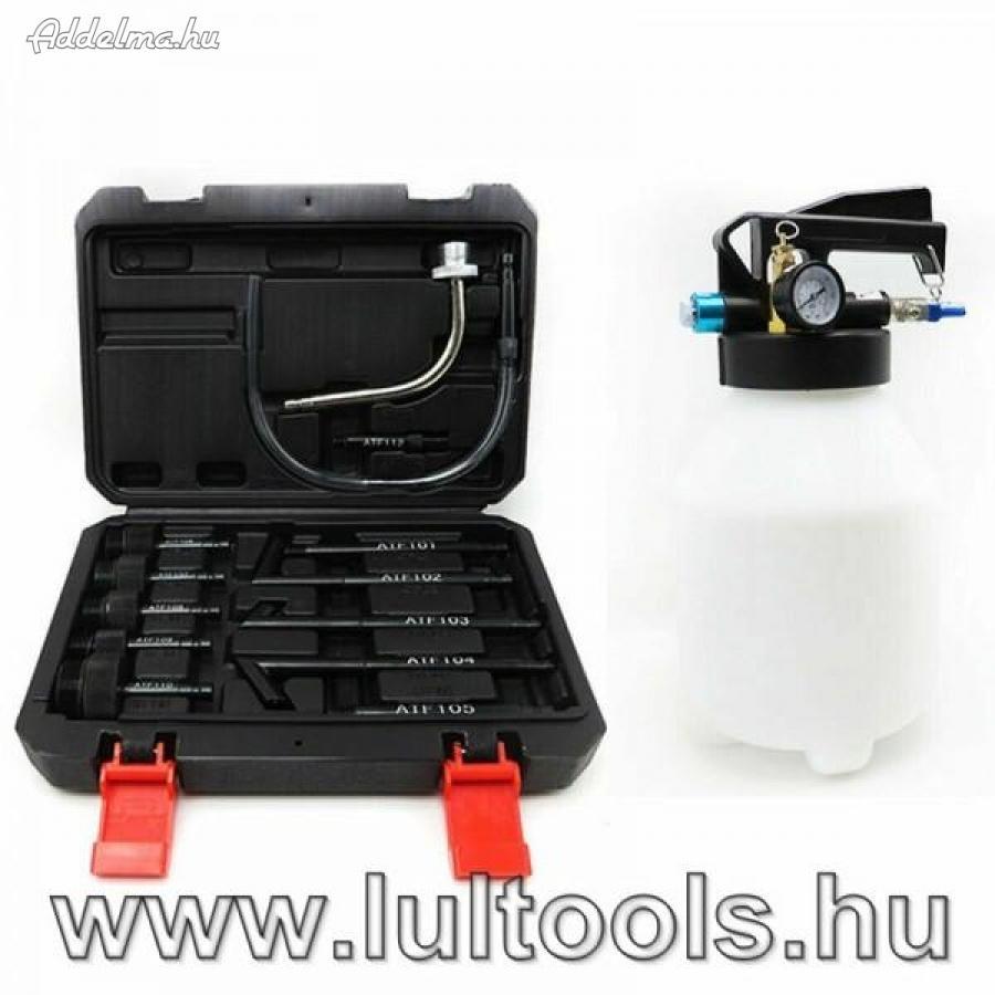 Váltóolaj betöltő készlet 13 adapterrel, pneumatikus,,.,,.,.,.