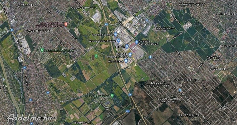 XXIII. kerület kiadó telek 10.000 m2